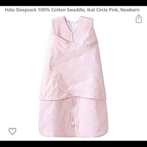 Halo Ikat print wrap baby sleep sack. EUC.